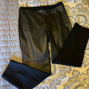 ST. JOHN Leather Front Pant